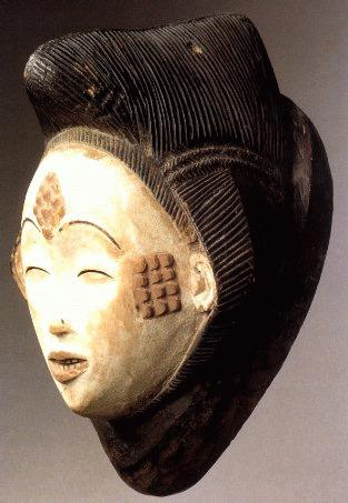 """Mukuyi"" Mask: The Punu People (Gabon)Wood, kaolin, pigments, H: 34 cmMusée DapperPhoto courtesy of Musée Dapper"