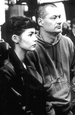 Audrey Tautou and director Jean-Pierre Jeunet of Amelie