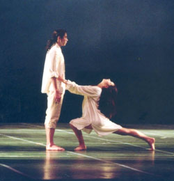 Isabelle Guerin and Yann Bridard in Le Parc