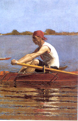 Thomas Eakins: John Biglin in a Single Scull