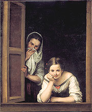 Two Women at a Window • c. 1655–60 • Oil on canvas • National Gallery of Art, Washington, DC, Widener Collection • Photo courtesy of Los Angeles County Museum of Art   •  •  •  •
