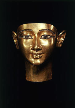 Funerary mask of WenudjebauendjedTwenty-first Dynastyreign of Psusennes I, 1039-991 BCE goldThe Egyptian Museum, Cairo