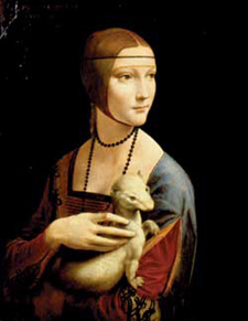 Leonardo da Vinci: • Lady with an Ermine, ca. 1490 • Oil on panel • Czartoryski Foundation, National Museum, Cracow Czartoryski Museum • Photo courtesy of Milwaukee Art Museum