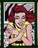 Roy Lichtenstein: Girl in Window (Study for World's Fair Mural), 1963 • Oil on canvas, 68 x 50 in. (172.7 x 127 cm) • Whitney Museum of American Art, New York • Gift of The American Contemporary Art Foundation, Inc. • Leonard A. Lauder, President. © Estate of Roy Lichtenstein • Photo Courtesy of Whitney Museum of American Art •  •