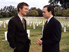 Peter Krause and Michael C. Hall in Six Feet Under