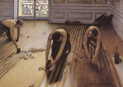 Gustave Caillebotte • Paris 1848 - Gennevilliers 1894 • The Floor Scrapers,1875 • Oil on canvas, 40 1/4 x 57 1/2 inches • Musée d'Orsay, Paris • Photo courtesy of the High Museum of Art, Atlanta •  •