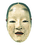 Omi-onna Mask • Momoyama period,  • 16th century  • Pigments on Japanese • cypress wood  • 8 1/4 x 5 1/4 in.  • (20.9 x 13.3 cm)  • Tokyo National Museum • Photo courtesty of Los Angeles County Museum of Art  •  •