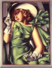 Tamara de Lempicka: • Jeune fille en vert • c. 1927Musée National d'Art Moderne, Centre Georges Pompidou, Paris.  • Photo courtesy of Legion of Honor