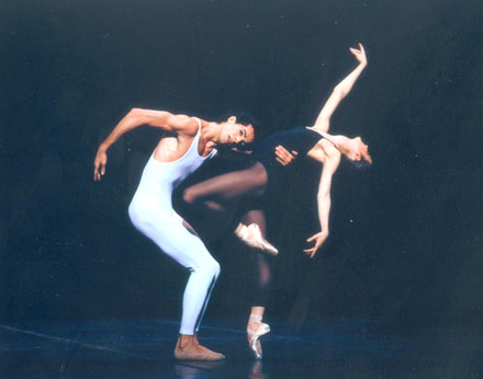 Agnès Letestu and José Martinez in Bejart's Webern, opus V