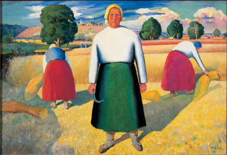 Kazimir Malevich: Reapers, 1928