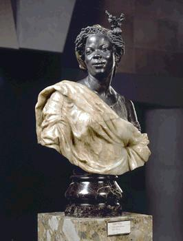 Charles Cordier • Capresse des colonies, 1861 • onyx and gilded bronze with patina • H. 0.965 ; B. 0.54 ; D. 0.28 m • Paris musée d'Orsay • (c) R.M.N. •  • Photo courtesy of Musée d'Orsay  •