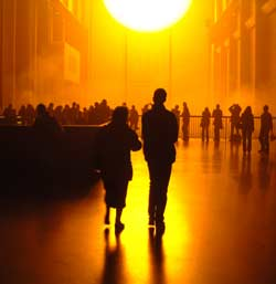 The Weather Project© Olafur Eliasson,BR> Photo © 2003 Tate, LondonPhoto courtesy of Tate Modern