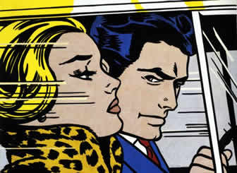 Roy Lichtenstein: In The Car, 1963Private Collection© Estate of Roy Lichtenstein/DACS 2003