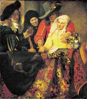 Jan Vermeer: The Procuress, 1656 • oil on canvas • From the Old Masters Picture Gallery • State Art Collections Dresden, Germany • Photo © Staatliche Kunstsammlungen Dresden • Photo courtesy of Staatliche Kunstsammlungen Dresden  •  •