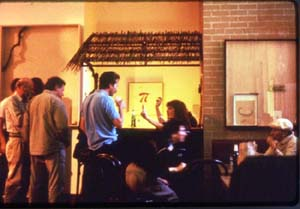 Tom Marioni: • The Act of Drinking Beer with Friends is the Highest Form of Art (Studio with Café) 1992  • Photo courtesy of Yerba Buena Center for the Arts