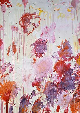 Cy Twombly: Untitled 2001 • Acrylic paint, wax crayon, pencil, collage • 124 x 89cm • © 2004 Cy Twombly • Photo: Courtesy Gagosian Gallery  • Photo courtesy of Serpentine Gallery •  •