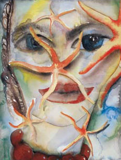 Francesco Clemente • Water, 2003 watercolours • Galerie Bruno Bischofberger • Photo courtesy of Reykjavik Art Museum