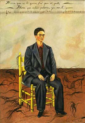 Frida Kahlo • Self-Portrait with Cropped Hair • 1940 • oil on canvas • 15 in. x 11 in. • Gift of Edgar Kaufmann, Jr • Photo courtesy of El Museo del Barrio