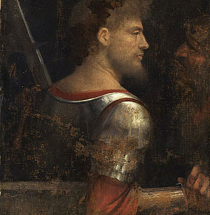 Giorgione: The Warrior  • c.1505/10  • canvas, 72 x 56,5 cm • Vienna, Kunsthistorisches Museum • Photo courtesy of Kunsthistorisches Museum
