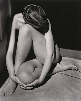Nude, Santa Monica • by Edward Weston • American, 1936 • Gelatin silver print • 84.XM.1381.1 • © 1981 Arizona Board of Regents, Center for Creative Photography • Photo courtesy of J. Paul Getty Museum •