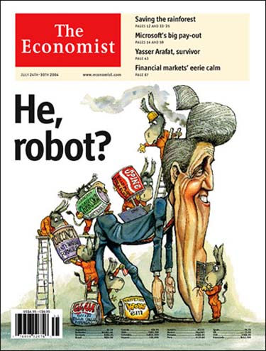 John Kerry on the cover of The Economist