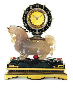 "Cartier New York, ""Chimera"" Mystery Clock, © Cartier  • Photo courtesy of Museum of Fine Arts, Houston"