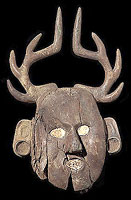 Deer Mask. Oklahoma, LeFlore County, Spiro, Craig Mound, A.D. 1200–1400 Smithsonian Institution, National Museum of the American Indian, Washington, D.CPhoto courtesy of The Art Institute of Chicago