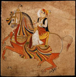 Jodhpur, A Young Man on a Prancing Horse, c. 1830  • Photo courtesy of Museum of Fine Arts, Houston