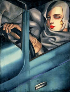 Tamara De Lempicka: • My Portrait, 1929, private collection • (c) VBK Wien 2004 • Photo courtesy of Kunstforum  •  •  •    •  •