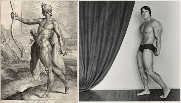 Mapplethorpe: young Arnold Schwarzenegger; Muller/de Vries, Apollo