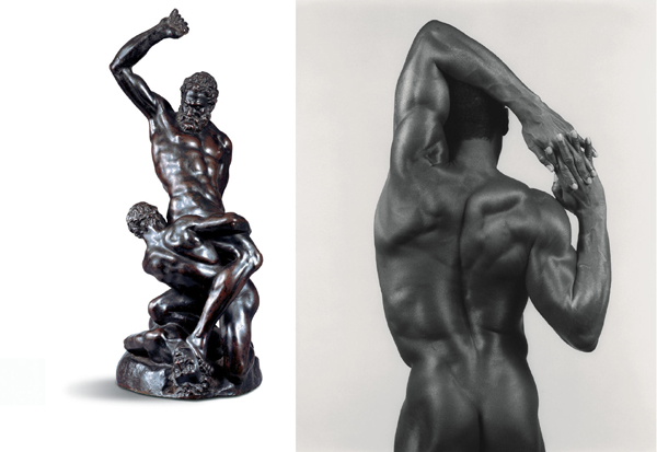 Mapplethorpe: Dancer Derrick Cross; After Michelangelo, Samson conquers Philistines