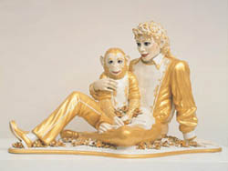 Jeff Koons:Michael Jackson and Bubbles, 1988 • Photo courtesy of Astrup Fearnley Museum of Modern Art