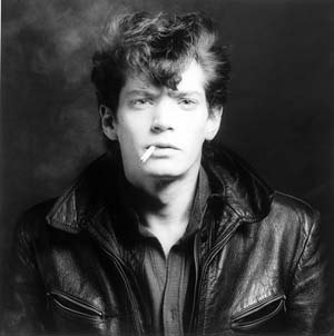 Robert Mapplethorpe: Self Portrait, 1980 • Silver Gelatin Print, edition XT • 16 x 20 ins • Copyright The Estate of Robert Mapplethorpe • Photo courtesy of Alison Jacques Gallery •