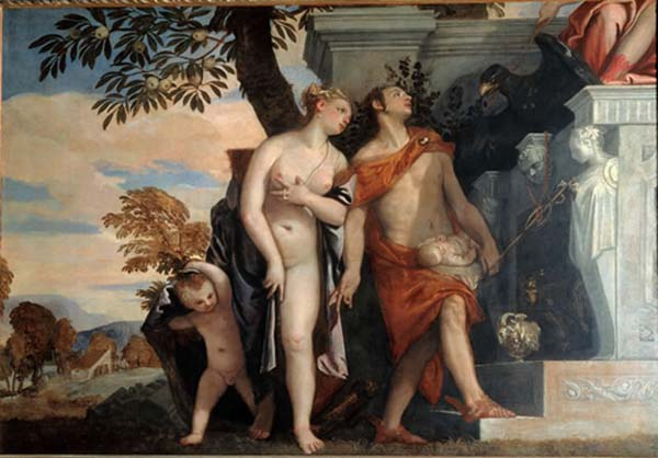 Paolo Veronese: Venus and Mercury presenting Eros and Anteros to Jupiter