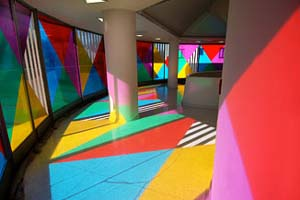 <P>Daniel Buren: <EM>Color, Rhythm, Transparency, work in situ: The Single Frieze, Thannhauser 4</EM>, 2004–05Solomon R. Guggenheim Museum, New YorkPhoto: Daniel BurenPhoto courtesy of Solomon R. Guggenheim Museum, New York</P> • <P> </P>