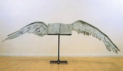Anselm Kiefer: <EM>Book with Wings</EM>, 1992-94 Lead, tin and steelMuseum purchase acquired in 2000Museum of Modern Art of Fort WorthPhoto courtesy of The Modern Art Museum of Fort Worth