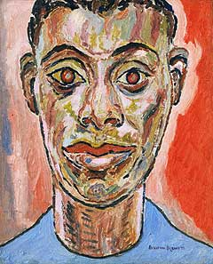 Beauford Delaney (American, 1901-1979)<EM>Portrait of James Baldwin</EM>, 1945Oil on canvas22 x 18 inchesPhiladelphia Museum of ArtPhoto courtesy of Philadelphia Museum of Art