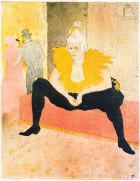 Henri de Toulouse-Lautrec: <EM>La Clownesse assise</EM>Photo courtesy of Kunsthal Rotterdam