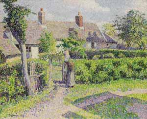 Camille Pissarro: <EM>Peasants' houses</EM>, Eragny 1887Art Gallery of New South WalesPhoto courtesy of Milwaukee Art Museum