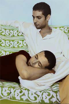 Youssef Nabil: <EM>Not Afraid to Love</EM>Hand-coloured gelatin silver print15 1/2 x 10 3/8 inchesPhoto courtesy of Patricia Laligant Gallery