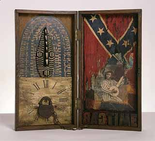 "Betye Saar: <EM>Ragtime</EM>, 2005Mixed media box assemblage 19"" x 20"" x 2"", signed, titled and datedPhoto courtesy of Michael Rosenfeld Gallery"