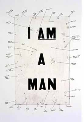 Glenn Ligon<EM>Condition Report</EM>, 2000Silkscreen on iris prints, diptych 32 x 22 3/4 in. (81.3 x 57.8 cm) eachCourtesy of the artist and Regen Projects, Los AngelesPhoto courtesy of Musée d'Art Moderne Grand-Duc, Luxembourg