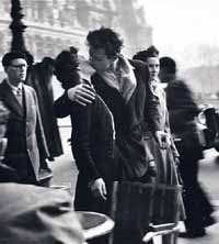 Robert Doisneau: Kiss by the Hotel de Ville, 1950Photo courtesy of Grimaldi Forum Monaco