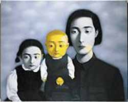 <P>Zhang XiaogangUntitled (Bloodline Series, 1997Öl/Canvas© Sammlung SiggPhoto courtesy of The Peabody Essex Museum</P>