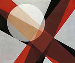 László Moholy-Nagy:<EM> A19,</EM> c. 1927Oil on canvasPhoto courtesy of Whitney Museum of American Art