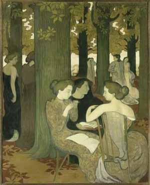 Maurice Denis<EM>The Muses,</EM> also known as <EM>In the Park</EM>1893Oil on canvasH.1.715; B.1.375 m.Paris, Musée d'Orsay (c) RMN, Hervé Lewandowski, ADAGP, Paris 2006Photo courtesy of Musée d'Orsay