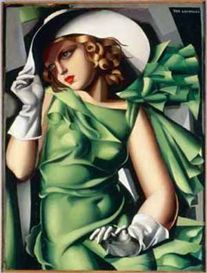 Tamara de Lempicka:<EM>Jeune fille aux gants</EM>, 1930Musée National d'Art Moderne, Centre Georges Pompidou, Paris. Photo courtesy of Palazzo Reale, Milano