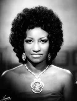 Celia Cruz Portrait with Afro Hairstyle, 1960sPhoto by Hererra Studios; courtesy of Omer Padilla-Cid Photo courtesy of Bass Museum of Art