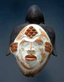 <EM>Maiden Spirit Mask (Mukuyi)</EM>Early 20th Century. Punu, GabonThe Baltimore Museum of ArtGift of Alan WurtzburgerPhoto courtesy of The Baltimore Museum of Art