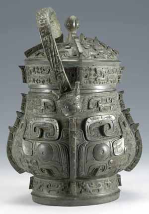 You (Wine Vessel), BronzeLate Shang dynasty (13th – 11th century BC)Photo courtesy of Bowers Museum